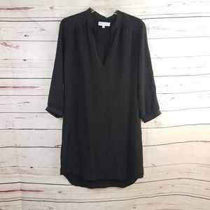 Amanda Uprichard Black 100% Silk Shirt Dress